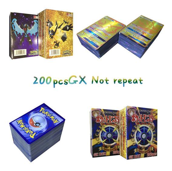 Cartões Mega Flash Game Card Pokemon 200 Cartões Gx