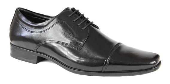 Sapato Jota Pe Masculino 75516 Com Cadarço - Preto