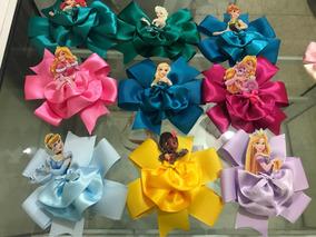 Moños Con Centro De Princesas