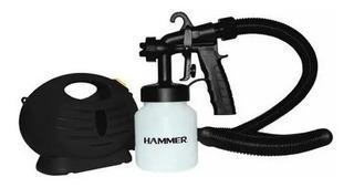 Pistola Pintura Elétrica Com Mini Compressor Hammer 650w