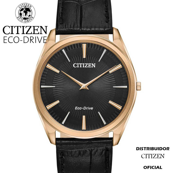 Stiletto Citizen Ar3073-06e Acero Dorado Con Piel Ecodrive