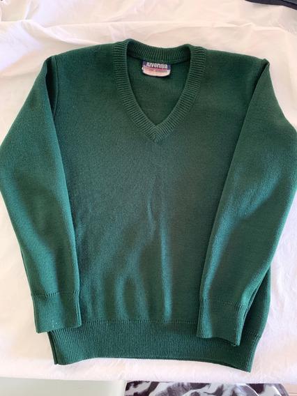 Sweater Escolar Escote En V