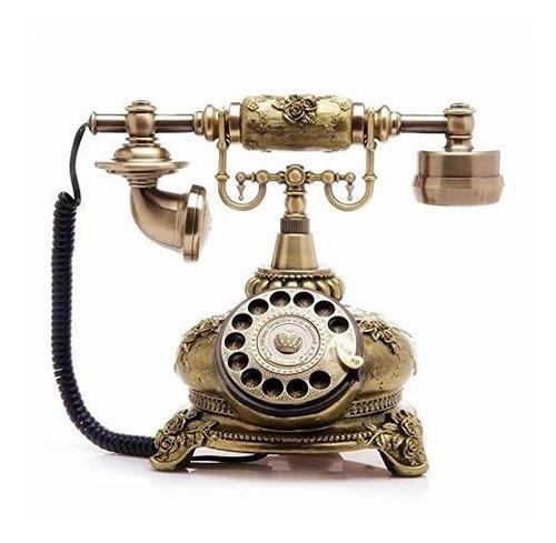 Telpal Retro Vintage Estilo Antiguo Con Cable Rotativo Dial