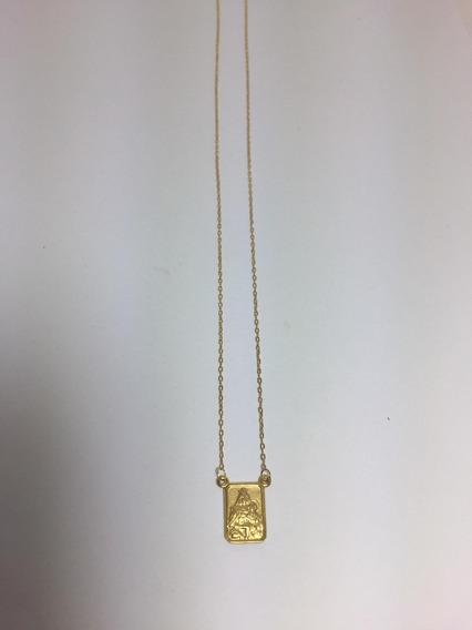 Corrente De Ouro Escapulario 3,0g - 36