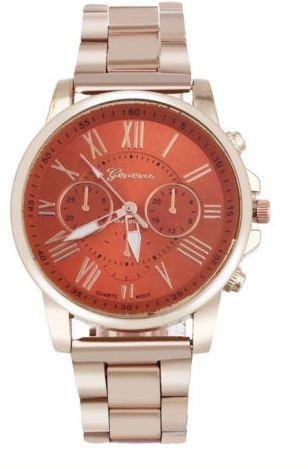 Relógio Unissex De Luxo Pulseira Aço Inox- D-35