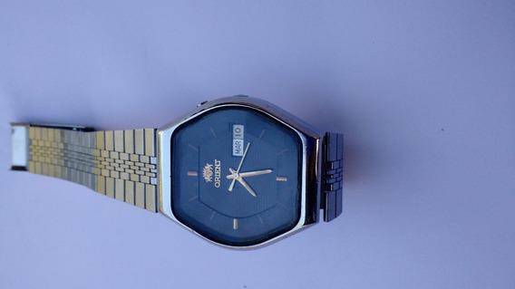 Relógio Orient Automático Azul Escuro Antigo Ótimo Estado