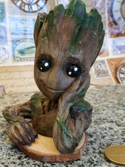 Inspirado Em Avengers Vaso Baby Groot Boneco Suculentas