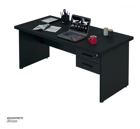Mesa De Escritório Escrivaninha, 1.20x60 Cnt30mm, C/ Gav.