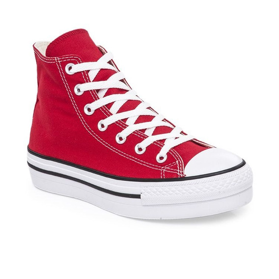 Botitas Converse All Star Plataforma Rojo! Exclusiva Dama