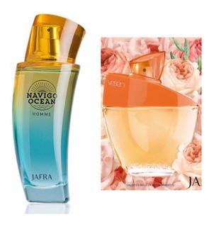 Jafra Navigo Ocean Y Vessen Set Con Las 2 Fragancias