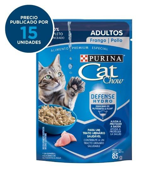 Purina® Cat Chow® Adultos Sabor Pollo 15x85g