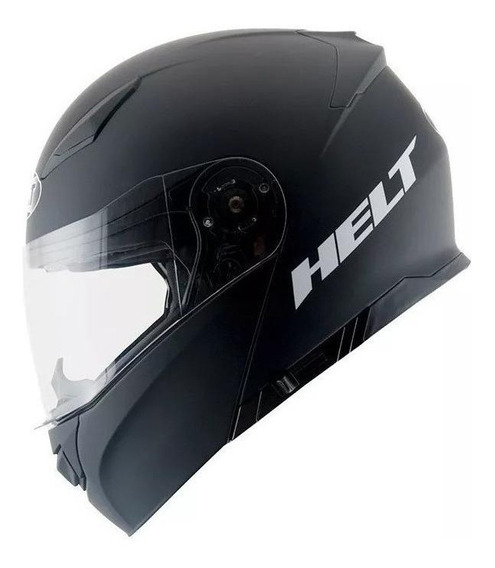 Capacete para moto escamoteável Helt Passeio Hippo Glass Preto Fosco tamanho 60
