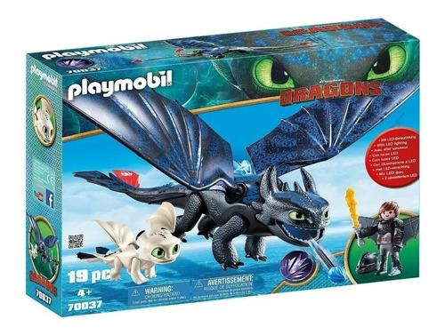 Imagen 1 de 9 de Playmobil Dragones Hipo Y Desdentado Con Bebe Dragon 70037