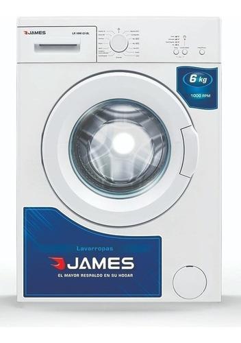 Lavarropas James Lr1006 G2 Blanco 6 Kg 23 Programas Pcm