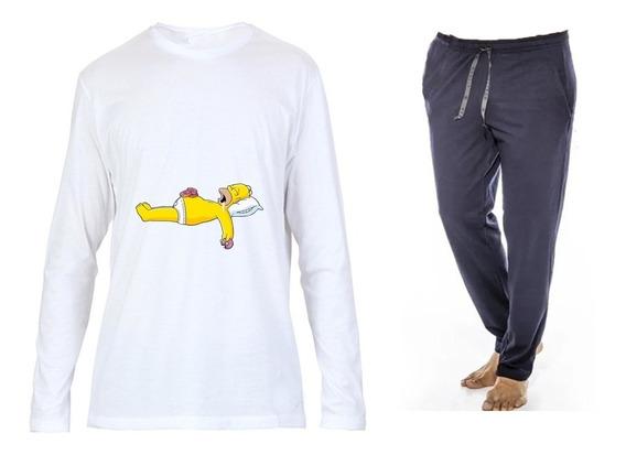 Pantalón Pijama Larga/remera Manga Larga /para Personalizar