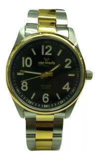 Reloj Vox Tronic Acero Combinado Dorado Sumergible 50m Gtia