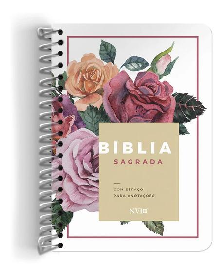 Bíblia Sagrada Anote Nvi Floral Espiral Espaço Anotações