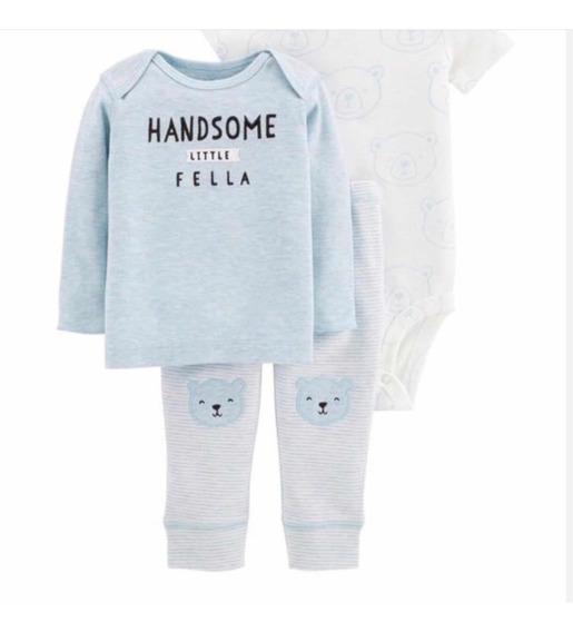 Carters Recién Nacido Varón Set 3 Piezas Monito Body Suéter