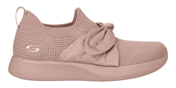 Tenis Skechers Casual Bobs Squad 2 Bow Beauty Mujer Rosa