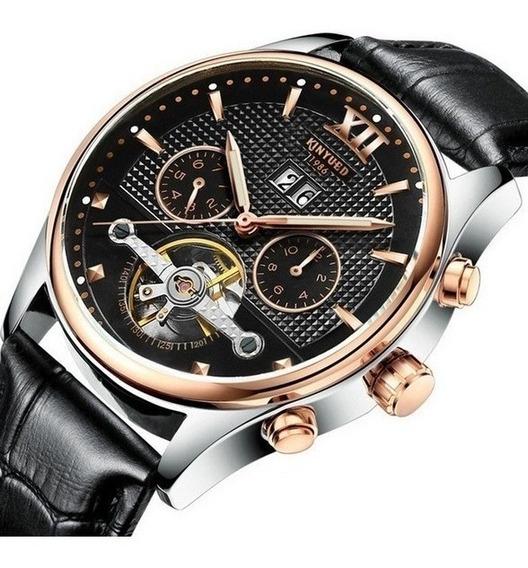 Relógio Masculino Luxo Elegante Turbilhão Kinyued 1986 Suíço