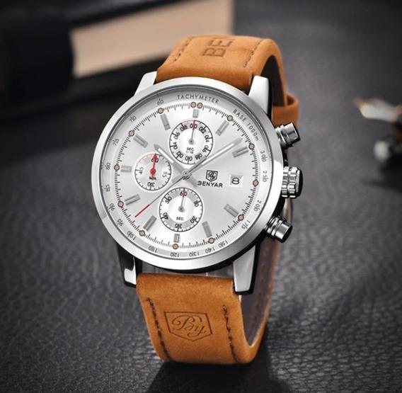 Relógio Pulso - Benyar - Multifução - 43mm - Hardlex