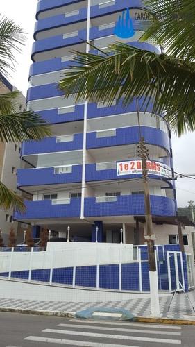 3241-lindo Apartamento De Frente Para O Mar Em Mongaguá!