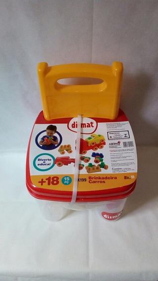 Cadeira Infantil Com Blocos De Montar Grande Carrinhos 15 Pç