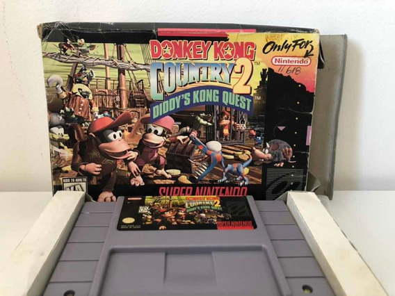 Jogo Donkey Kong 2 Original Caixa Para Super Nintendo Snes