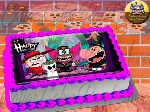 Papel De Arroz Comestível P/ Bolo Halloween Billy E Mandy