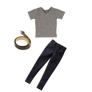 Juegos Ropa Fashion 1/6 Hombres Gris T-shirt Pantalones Vaqu