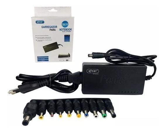 Carregador Para Notebook Fonte Universal 10 Plug 12v - 24v