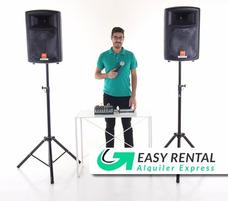 Alquiler De Sonido Microfono Parlante Consola Envio Gratis