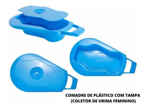 Comadre De Plástico Com Tampa Coletor De Urina Feminino