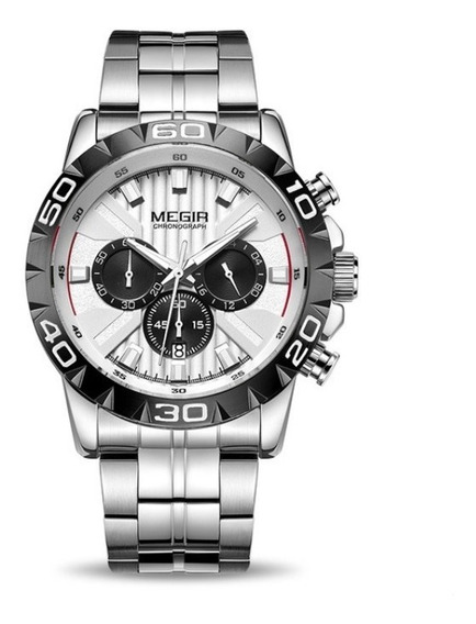 Relógio Masculino Original Luxo Megir Exclusivo Cronógrafo