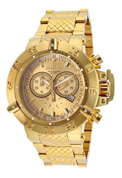 Reloj Invicta Subaqua Acero Inox. Chapeado Oro 18k 14500