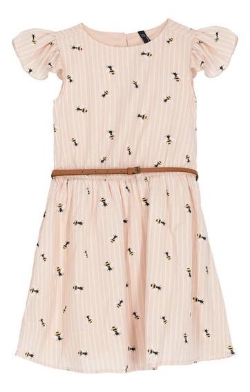 Vestido Corto Estampado De Niñas C&a 1047912