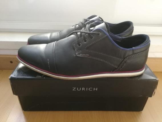 Zapatos Zurich Cuero Azules T43! 1 Solo Uso! Cuotas Sin Int