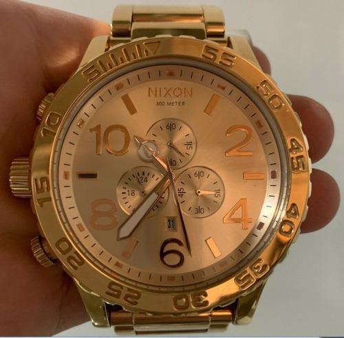 Reloj Nixon 100% Original Enchapado En Oro Nuevo