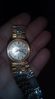 Reloj Seiko Dama Baño De Oro