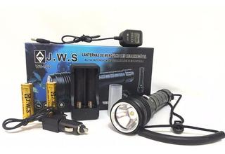Lanterna Led T9 Mergulho 1880000w 60 Metros Profundidade