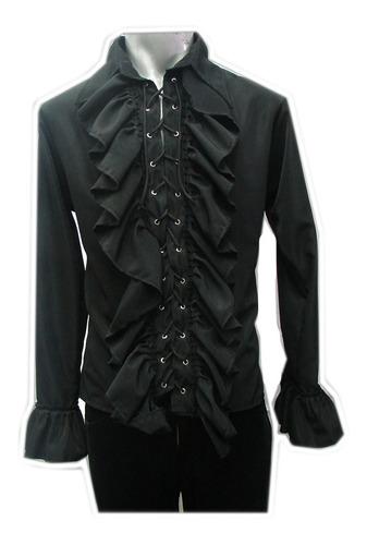 Imagen 1 de 1 de Eretica Ropa Dark-camisa Escarola Agujeta-rock-gotico