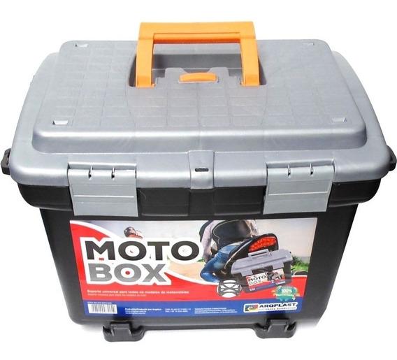 Maleta Bau Para Moto Box Em Plastico Removivel + Fixador