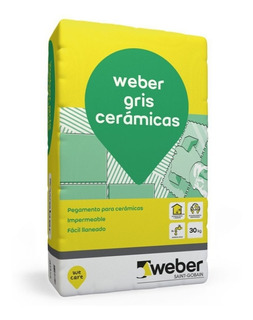 Pegamento Para Ceramicos Weber Col Gris X 30kg