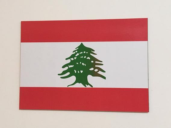 Placa Quadro Decorativo Da Bandeira Do Líbano 28x20 Cm