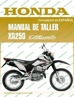 Manual Taller Y Despiece Honda Xr 250 Tornado En Español