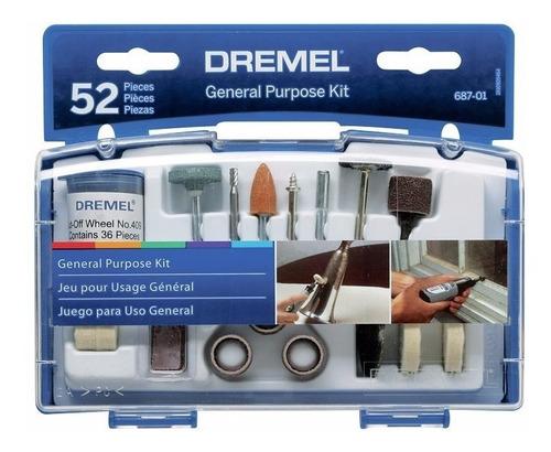 Kit 52 Accesorios Dremel 687 Para Uso General