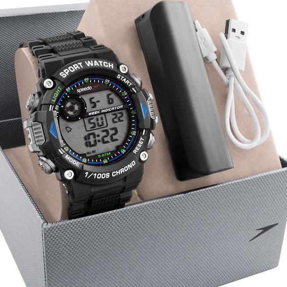 Relógio Masculino Speedo Carregador Portátil 81193g0evnp2k1