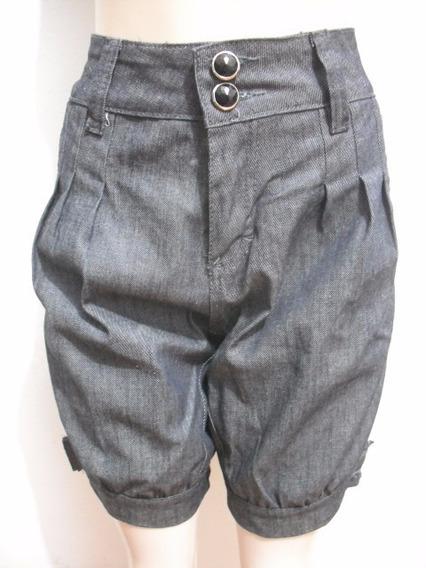Bermuda Feminina Jeans Tam 38 Nitron Usado Bom Estado
