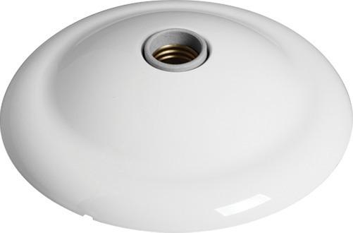 Plafonier Branco Grande Com Bocal De Louça E-27 Kit 3 Peças