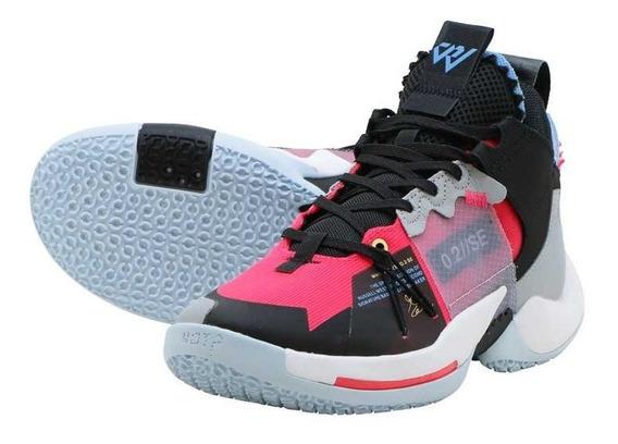 Tenis Jordan Why Not Zer 0.2 Se Negro,gris,rojo, Nuevo,orig